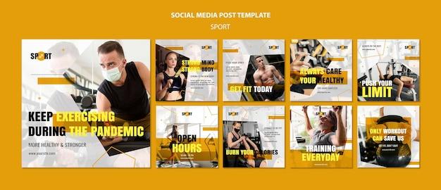 Sport social-media-beiträge