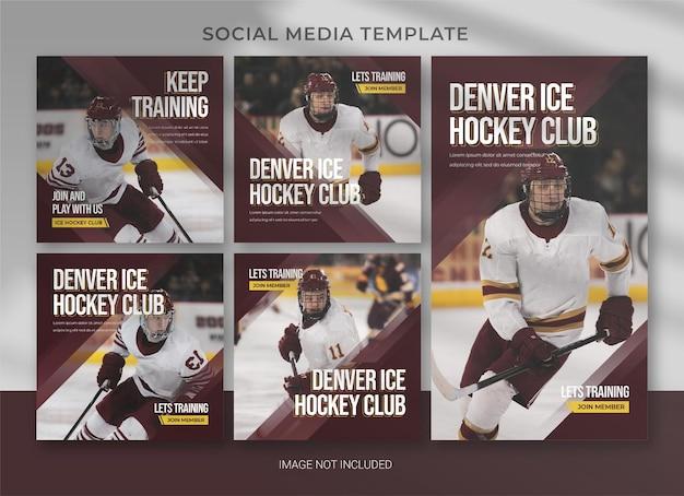 Sport social media pack bundle template design