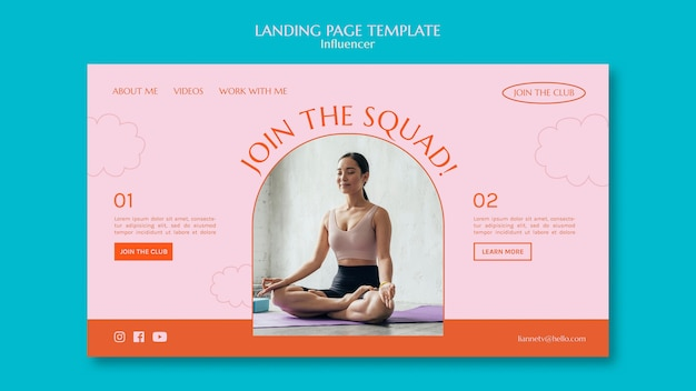 Sport squad landing page