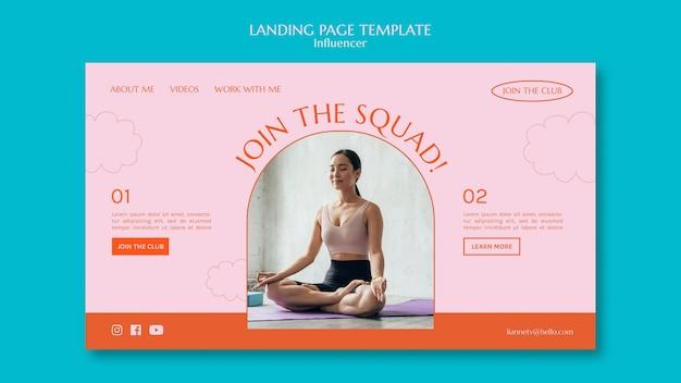 Sport squad landing page Kostenlosen PSD