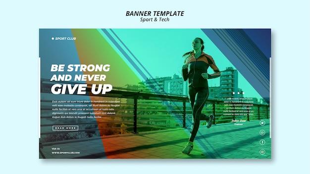 Sport & tech banner vorlage