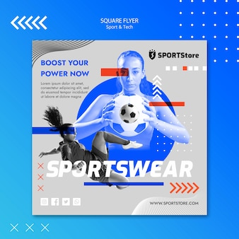 Sport & tech vorlage für flyer design