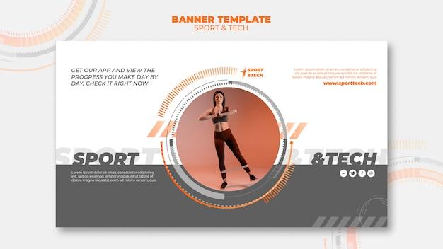 Sport und tech banner vorlage stil