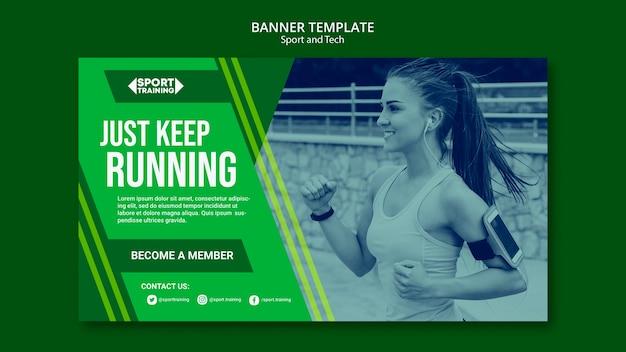 Sport und tech plakat vorlage