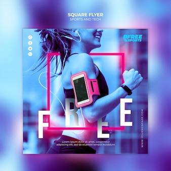 Sport- und tech-square-flyer