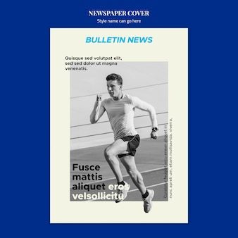 Sport zeitung cover-konzept