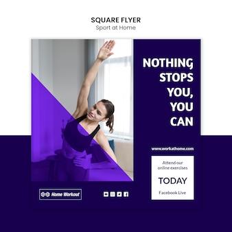 Sport zu hause square flyer stil