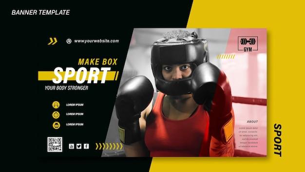 Sportbanner-vorlage mit foto with