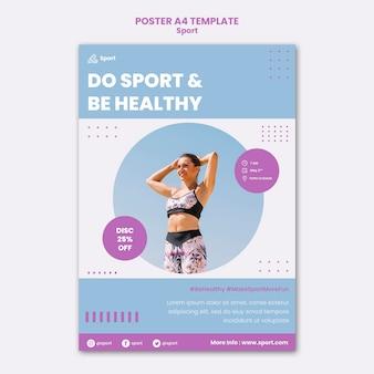 Sportdruckvorlage mit foto