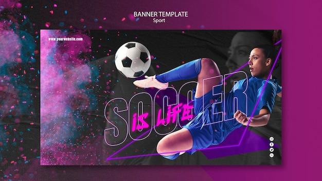 Sportkonzept banner vorlage stil