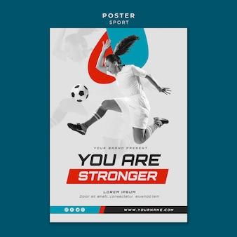 Sportkonzept plakatstil