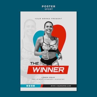 Sportkonzept poster design