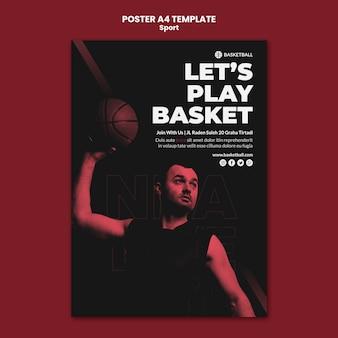 Sportkonzept poster vorlage