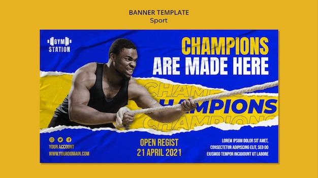 Sportmotivation banner vorlage