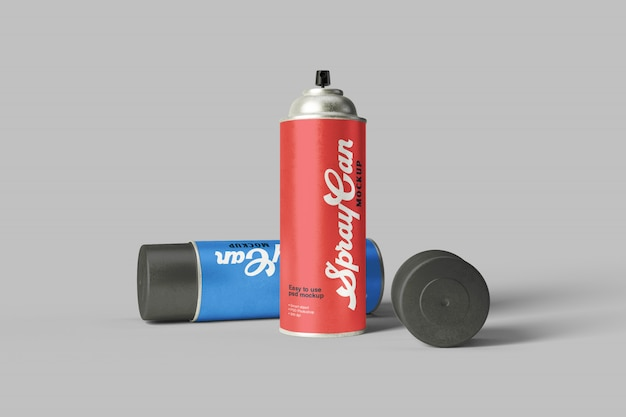 Spray can mockup