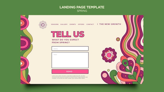 Spring party landing page