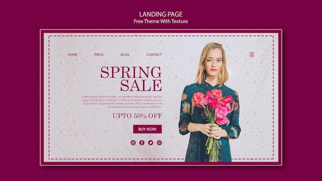 Spring sale landing page design