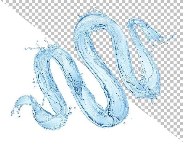 Spritzwasser isoliert auf weißem hintergrund