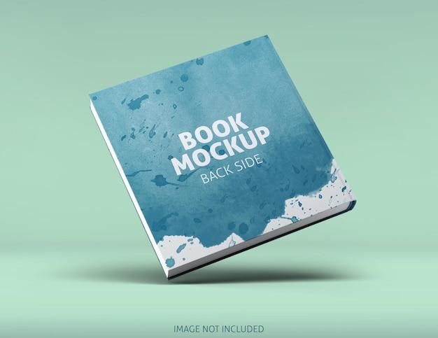 Square book mockup design rendering