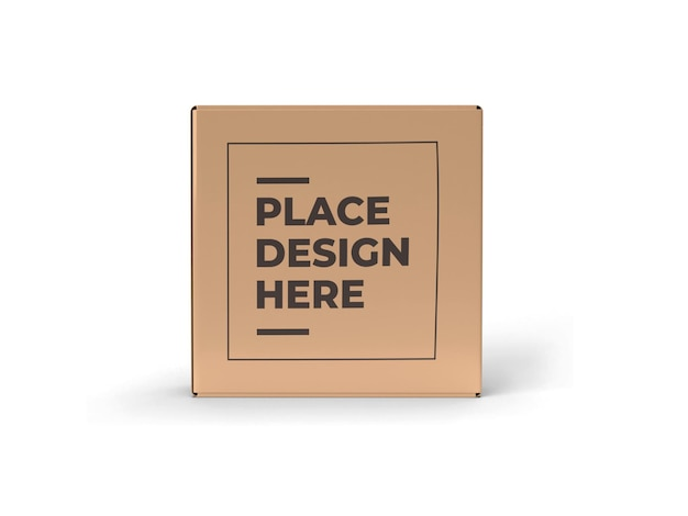 Square box packaging mockup design isoliert