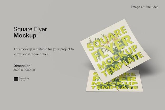 Square flyer mockup design rendering