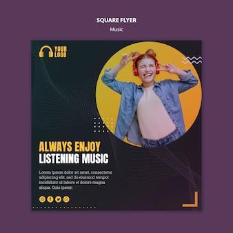 Square flyer-stil für musikveranstaltungen