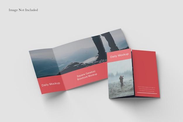 Square gatefold broschüre mockup design