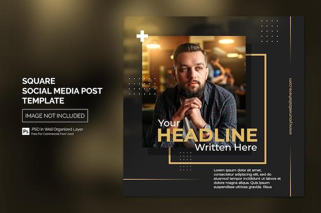 Square social media instagram post oder web banner template design concept