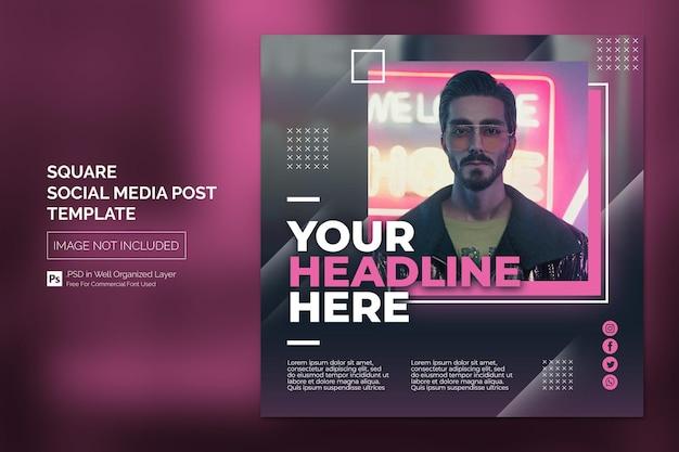 Square social media instagram post oder web-banner-vorlage mit headline-design-konzept