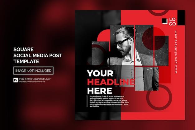 Square social media instagram post oder web-banner-vorlage