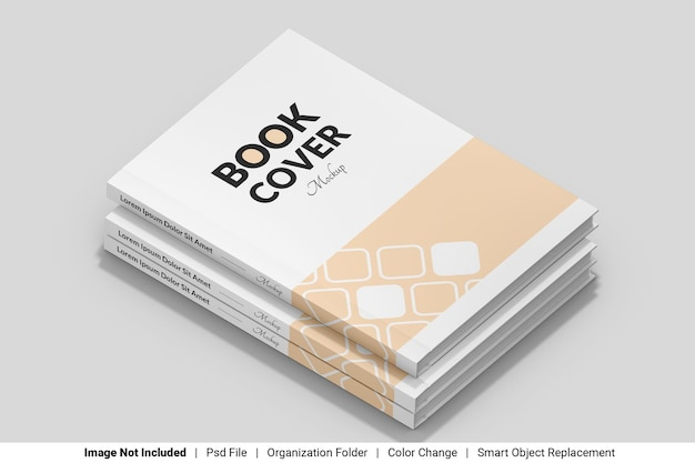 Stack front cover book mockup