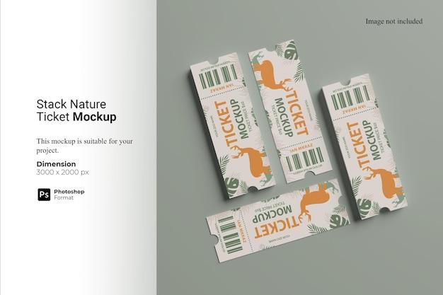 Stack nature ticket mockup