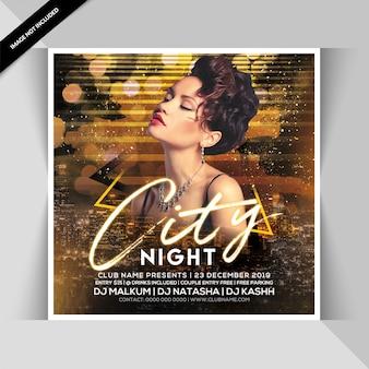 Stadt nacht party banner