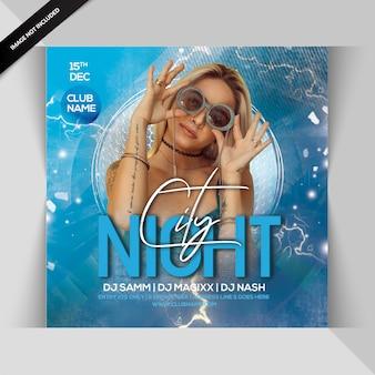 Stadt nacht party flyer