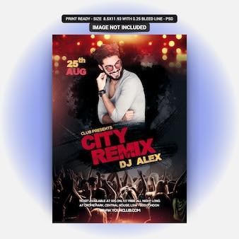 Stadt remix party flyer