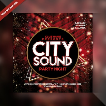 Stadt sound party flyer