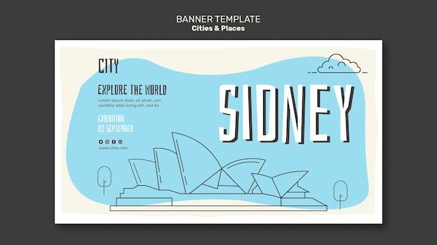 Städte und orte banner vorlage