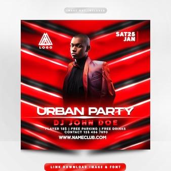 Städtischer party-flyer