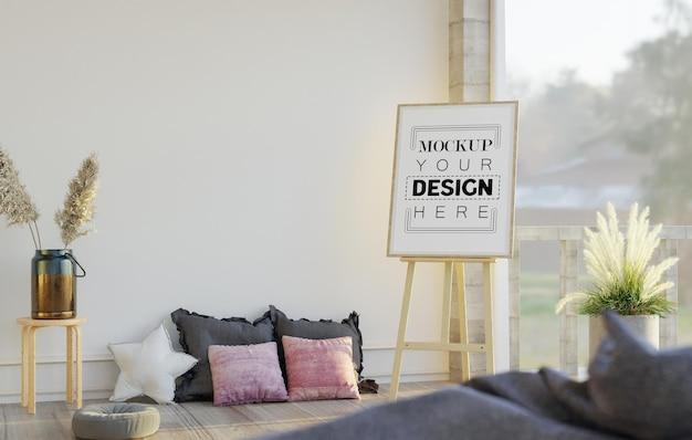 Staffelei modell im wohnzimmer