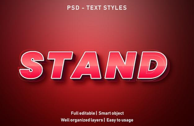Stand text effekte stil bearbeitbare psd