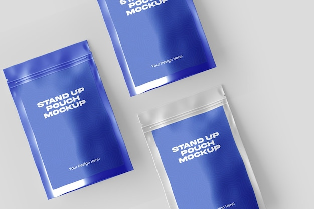 Stand up pouch mockup desing beim 3d-rendering