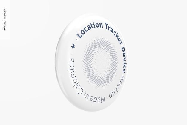 Standort-tracker-gerätemodell, seitenansicht