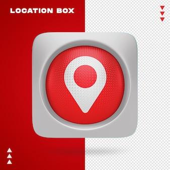 Standortbox in 3d renderin isoliert