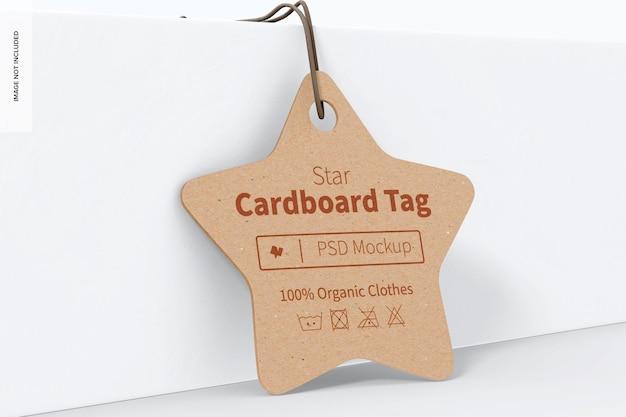 Star cardboard tag mockup, angelehnt