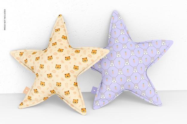 Star pillows mockup, perspektive