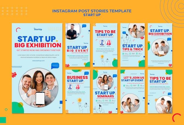 Starten sie die sammlung von instagram-geschichten