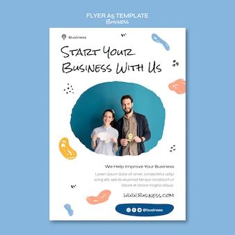 Starten sie ihre business-flyer-vorlage