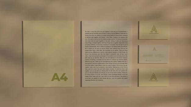 Stationäres visitenkartenmodell 3d-rendering