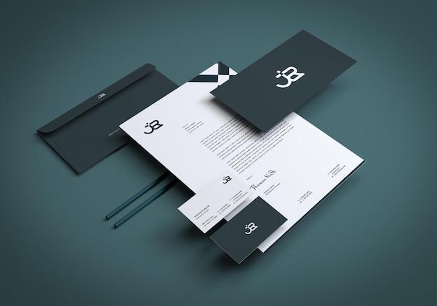Statonery set mockup design-vorlage