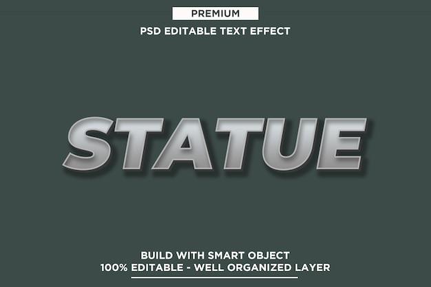 Statue - effekt-schablonen der weinlese-3d